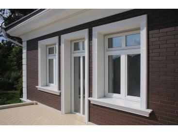Наличники с откосами из пенопласта — простое и стильное решение для отделки фасада