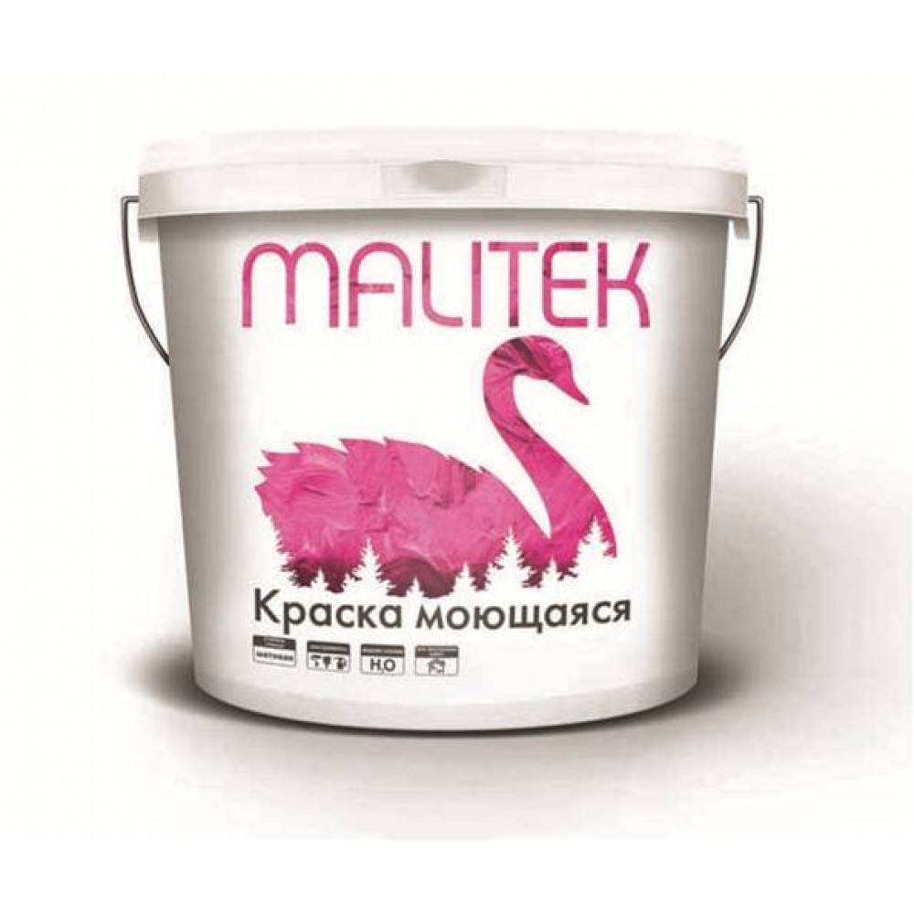 Водно-дисперсионная краска Malitek моющаяся