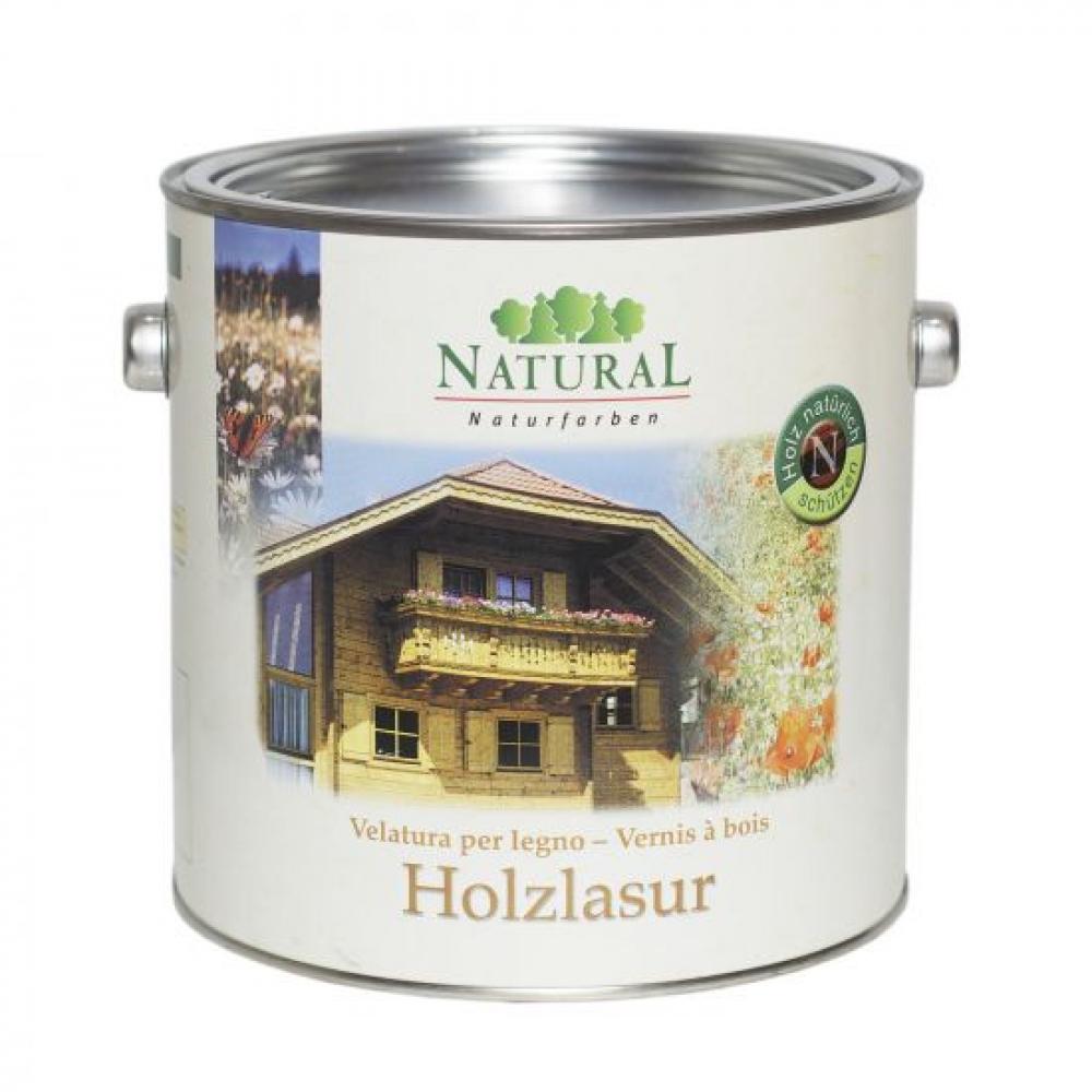 Holzlasur масло-лазурь для всех видов древесины 2,5 л производства Natural