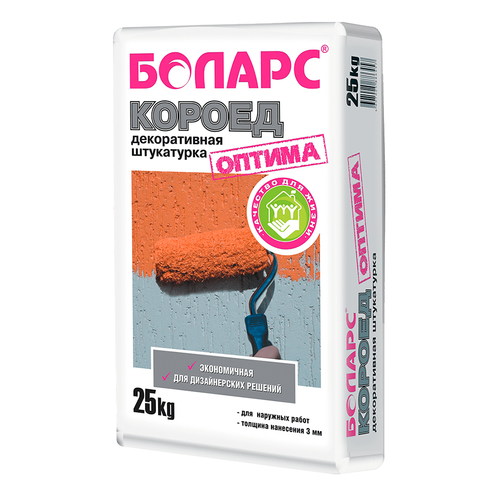Декоративная штукатурка Боларс Короед Оптима, 25 кг