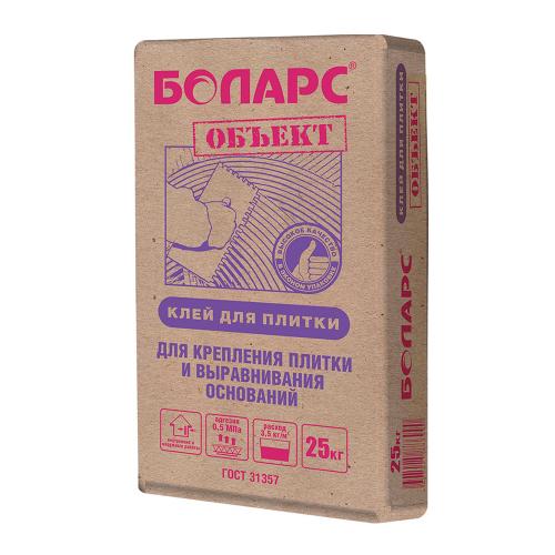 Клей для керамической плитки Боларс ОБЪЕКТ 25 кг