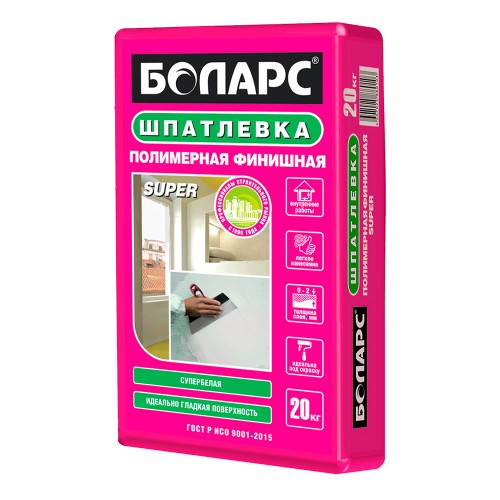 Полимерная финишная шпатлевка Боларс СУПЕР 20кг