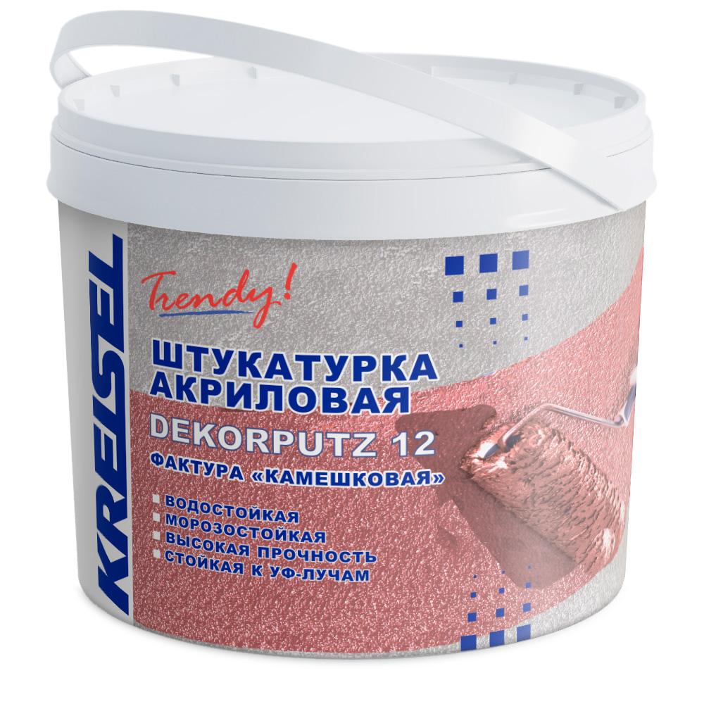 Акриловая декоративная штукатурка Камешковая DEKORPUTZ 12 Kreisel 15 кг