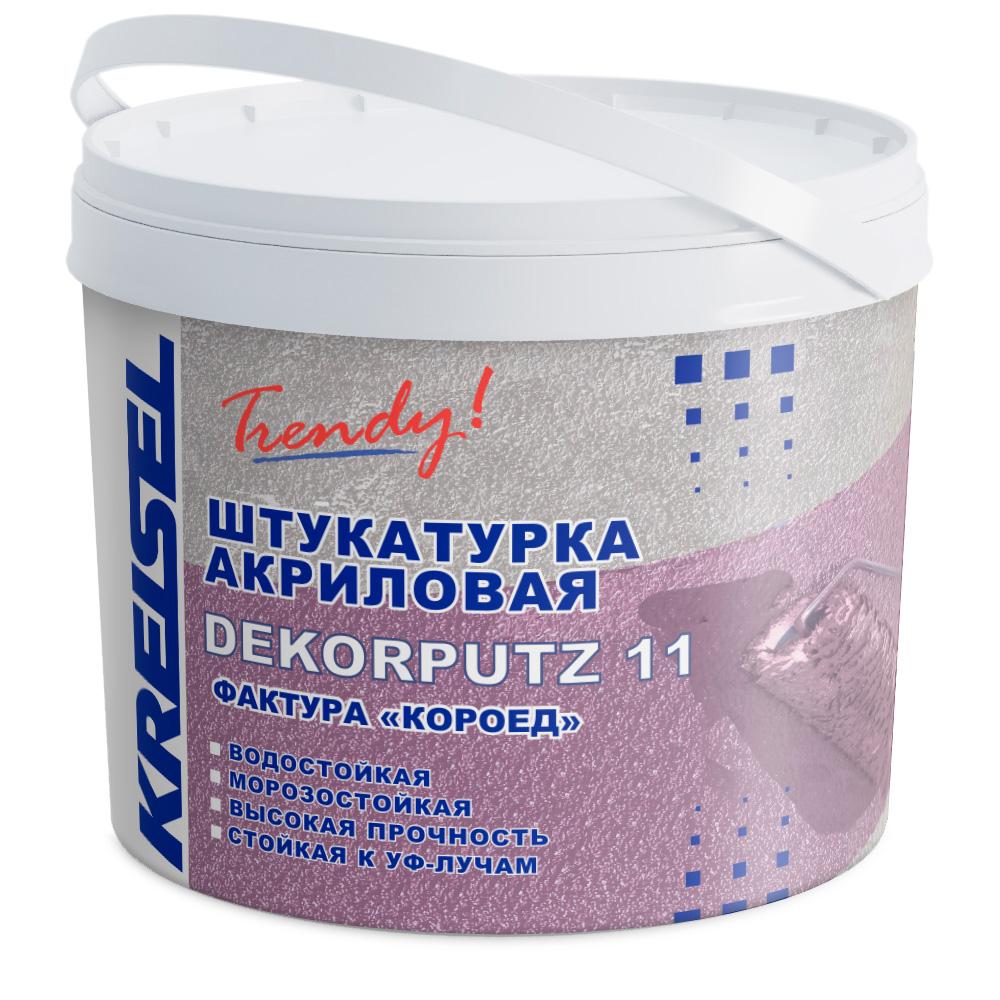 Акриловая декоративная штукатурка Короед DEKORPUTZ 11 Kreisel 15 кг
