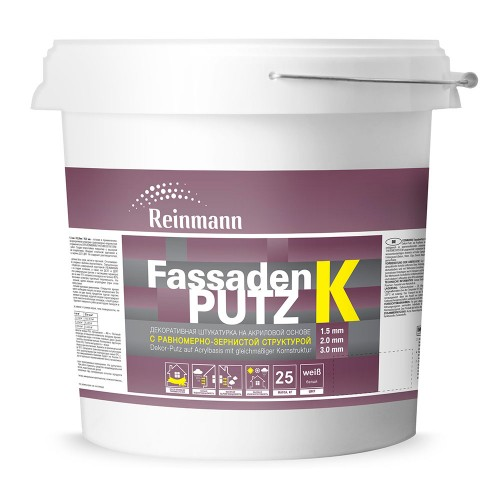 Водно-дисперсионная декоративная штукатурка Шуба 1,5/2,0/3,0 мм FassadenPutz K