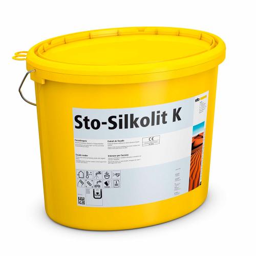 Силиконовая декоративная фасадная штукатурка Sto-Silkolit K 1,0 мм Шуба 25 кг