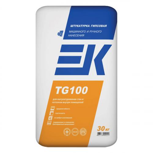 Штукатурка гипсовая машинного и ручного нанесения EK TG100 ЕК Кемикал