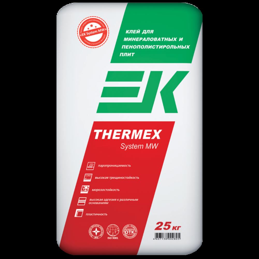 Клей для минераловатных и пенополистирольных плит EK THERMEX System MW/PPS ЕК Кемикал