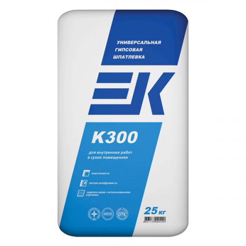 Универсальная гипсовая шпатлевка EK K300 ЕК Кемикал