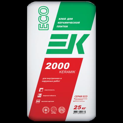 Клей для керамической плитки EK 2000 KERAMIK ECO ЕК Кемикал