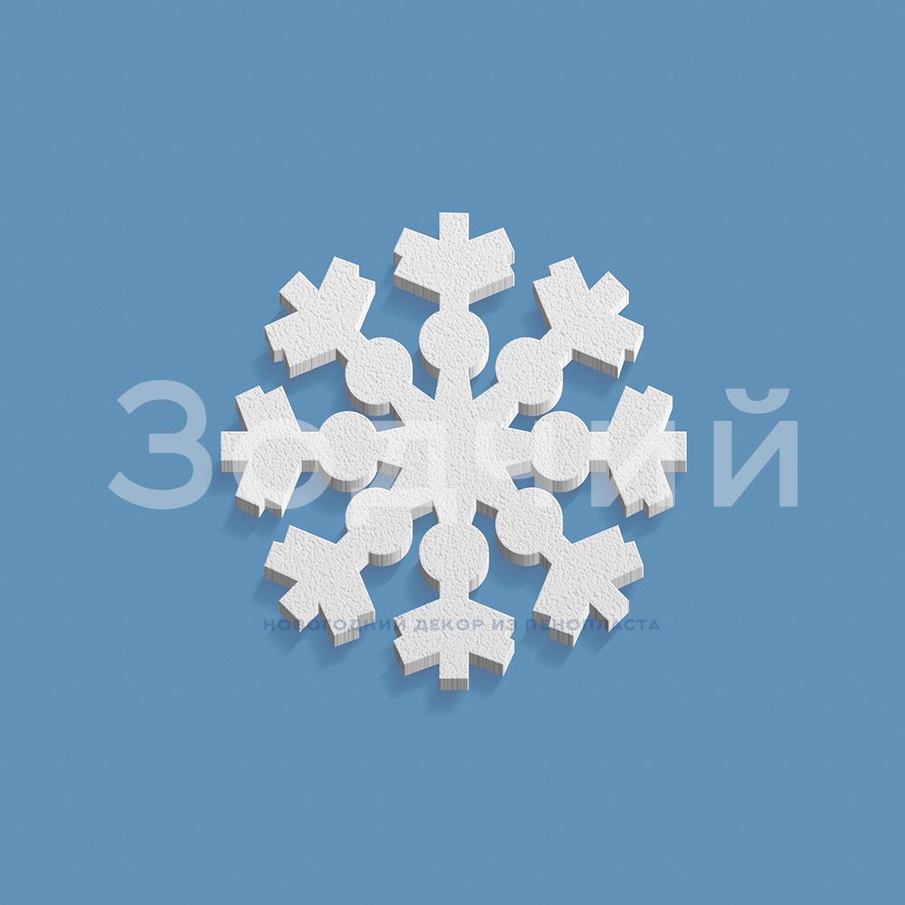 Снежинка из пенопласта №6 200*200*20 мм