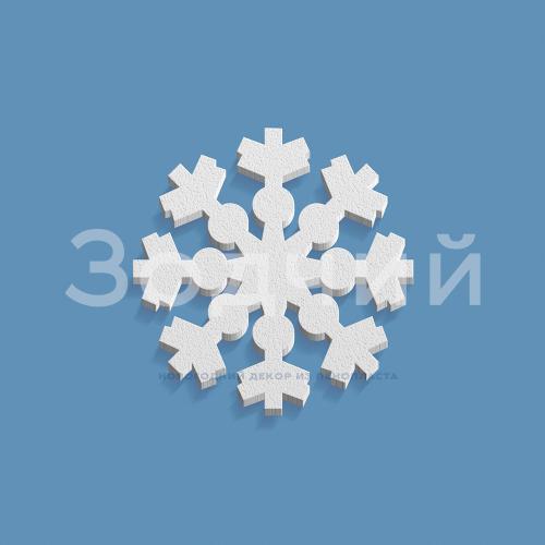 Снежинка из пенопласта №6