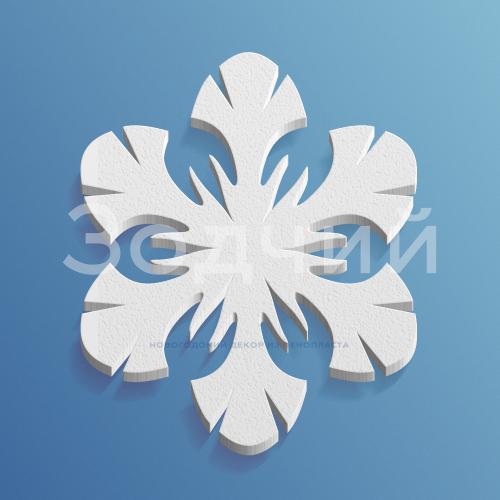 Снежинка из пенопласта №10