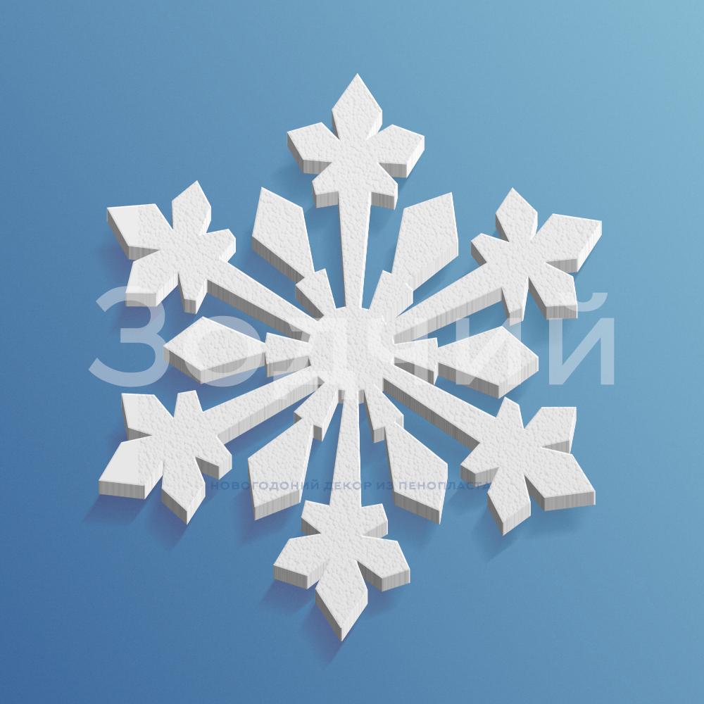 Снежинка из пенопласта №11