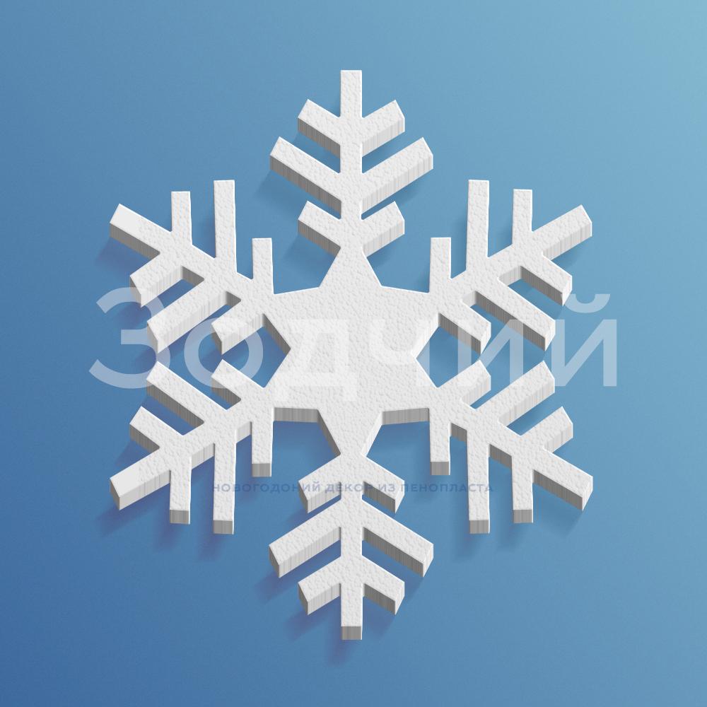 Снежинка из пенопласта №12