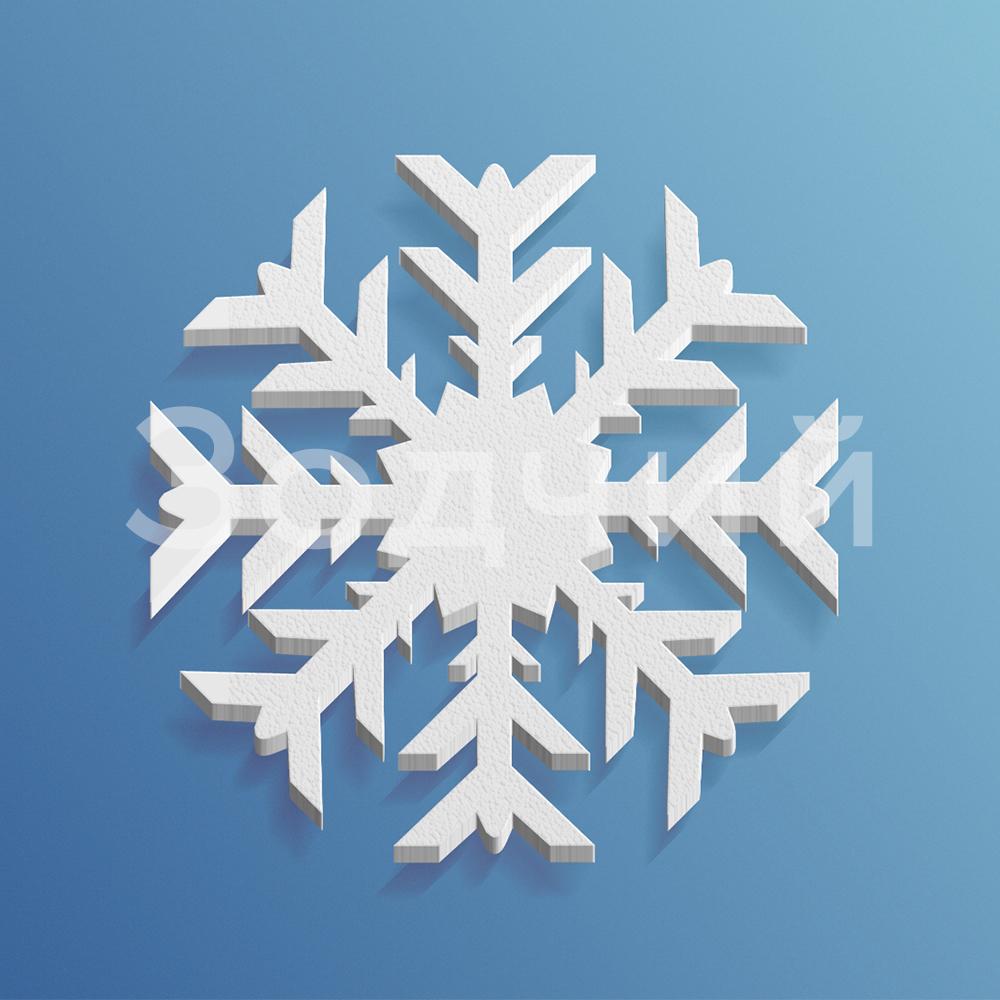 Снежинка из пенопласта №1