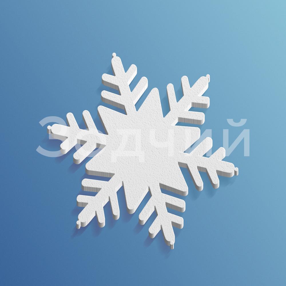 Снежинка из пенопласта №2