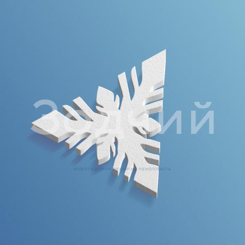 Снежинка из пенопласта №4
