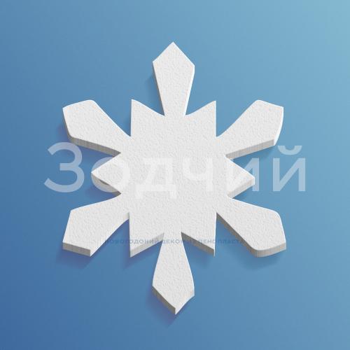 Снежинка из пенопласта №5