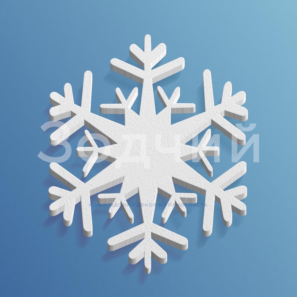 Снежинка из пенопласта №7