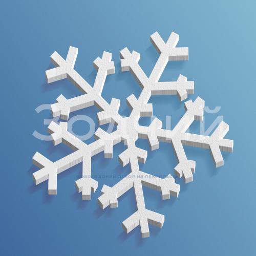 Снежинка из пенопласта №8