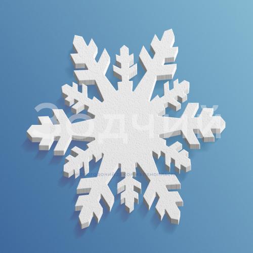 Снежинка из пенопласта №9