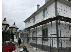 Утепление фасада дома и коттеджа под ключ