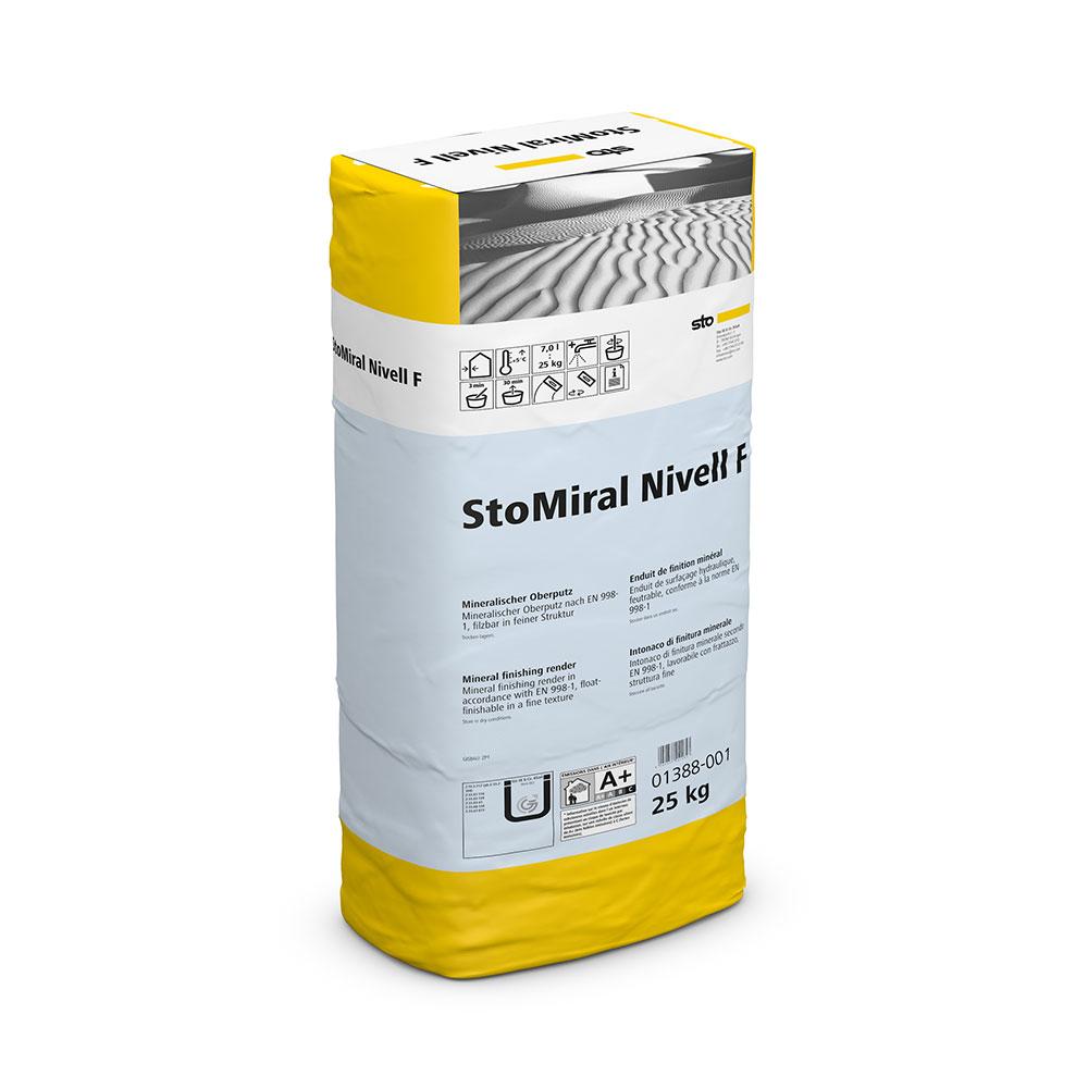 Минеральная фасадная штукатурка StoMiral Nivell F (мелкозернистая), 25 кг