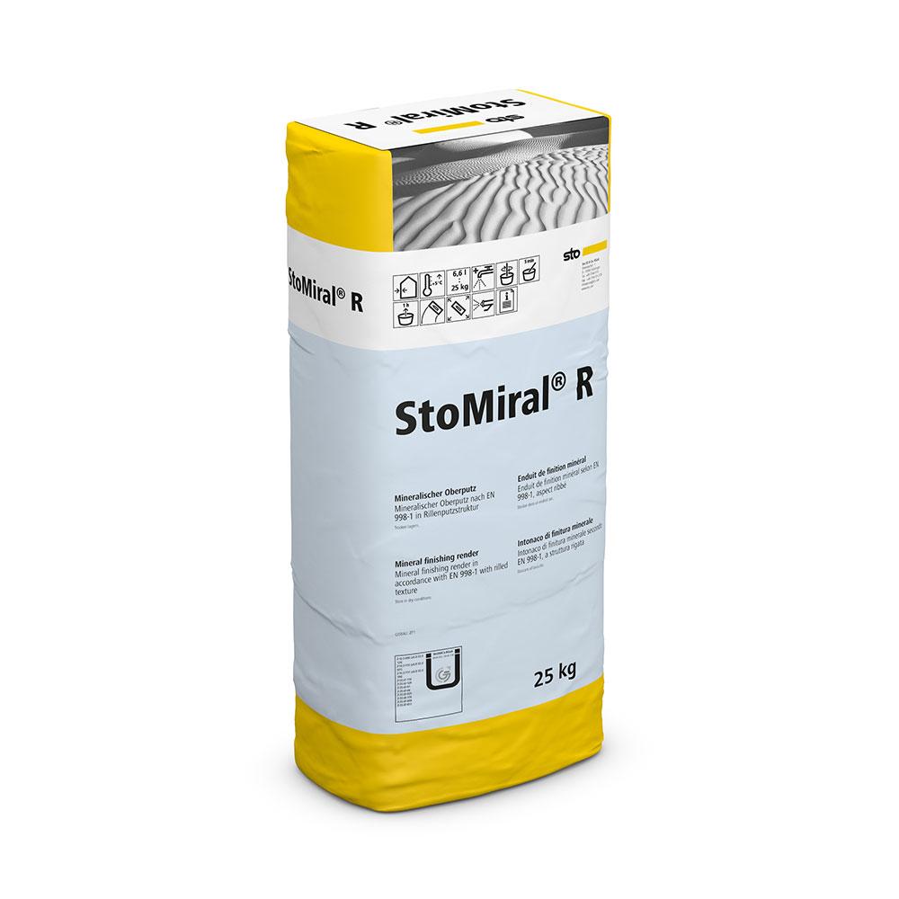 Минеральная фасадная декоративная штукатурка StoMiral R Короед, 25 кг