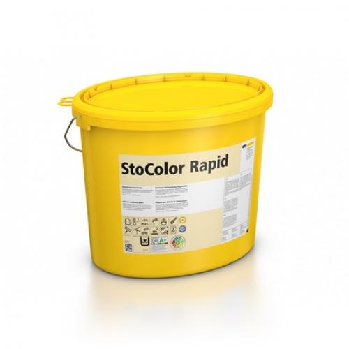 Водно-дисперсионная краска с высокой укрывистостью StoColor Rapid супербелая 15 л