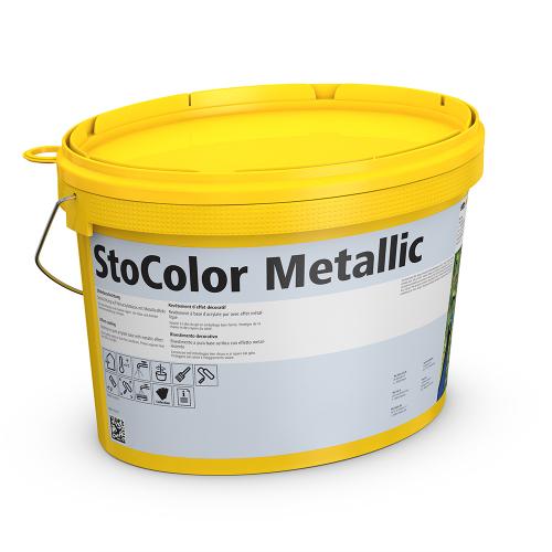 Акриловая краска StoColor Metallic (серебристая)