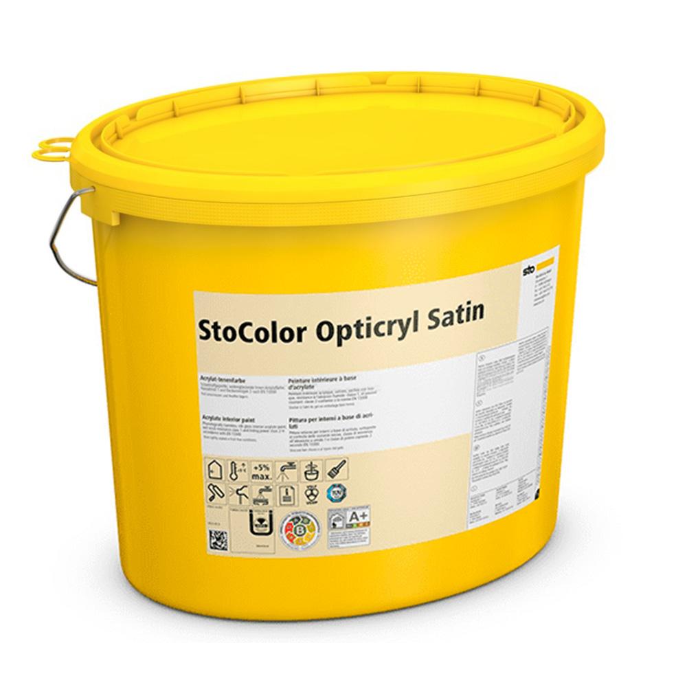 Акриловая интерьерная краска StoColor Opticryl Satin устойчивая к пыли 2,5 л