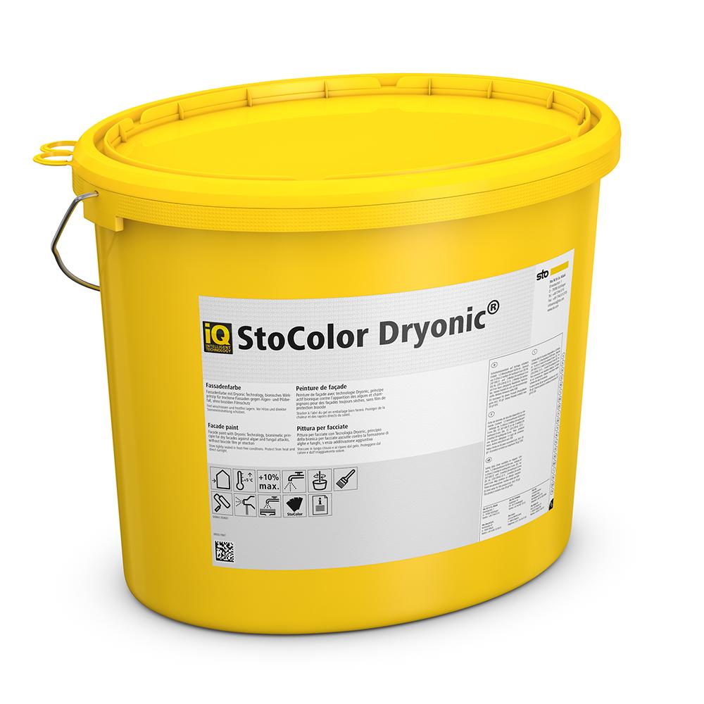 Фасадная краска StoColor Dryonic S с эффектом сухого и чистого фасада!