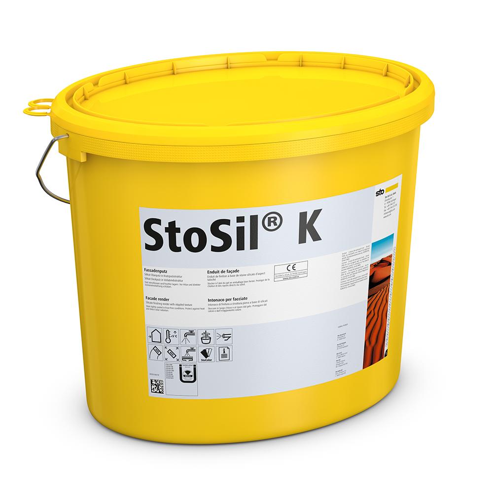 Силикатная фасадная штукатурка StoSil K/R/MP готовая, 15 кг