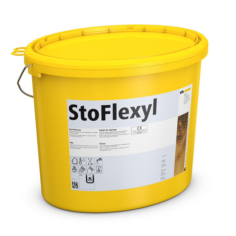 Гидроизоляционная шпатлевка для цоколя Sto-Flexyl 18 кг