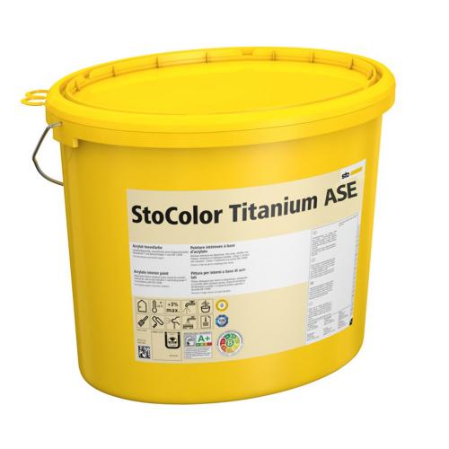 Интерьерная дисперсионная краска StoColor Titanium ASE матовая влагостойкая 15 л