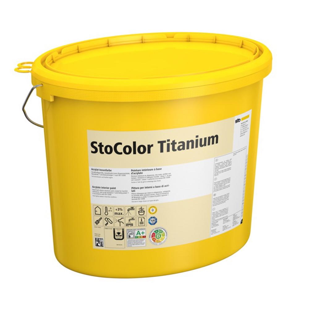 Белая акриловая краска для внутренних работ StoColor Titanium матовая 15 л