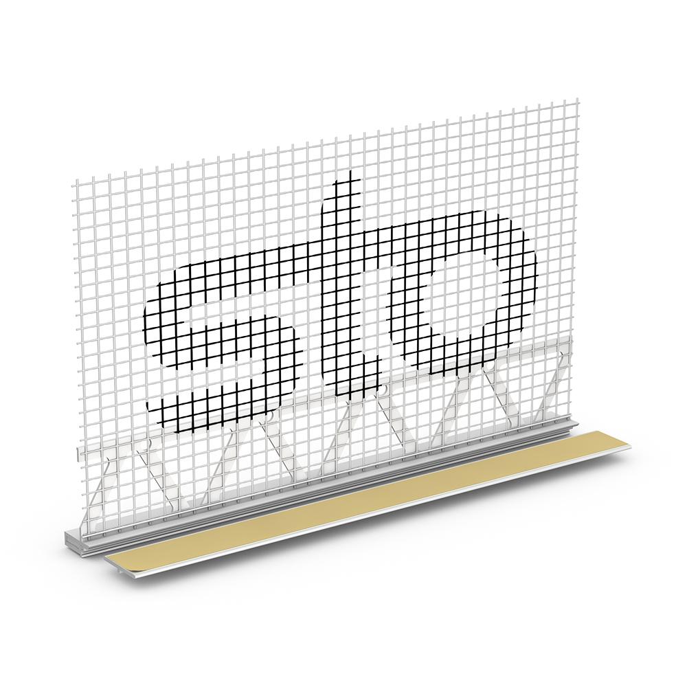 Профиль примыкания самоклеющийся оконный и дверной STO Anputzleiste со стеклосеткой 6 и 9 мм, 2.4 м