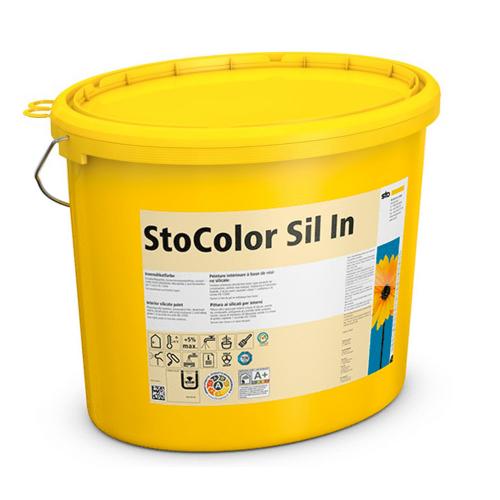 Супербелая силикатная краска для современного интерьера паропроницаемая StoColor Sil In 15 л