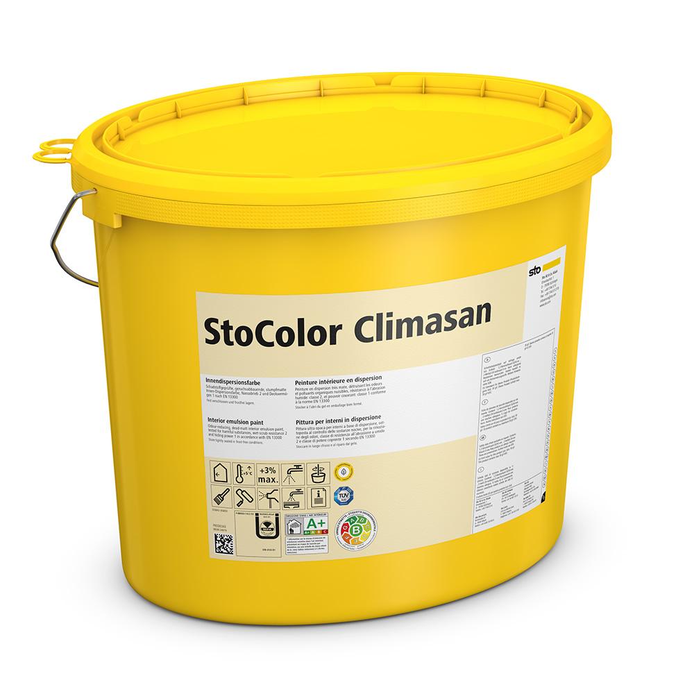 Специальная краска для внутренних работ StoColor Climasan матовая