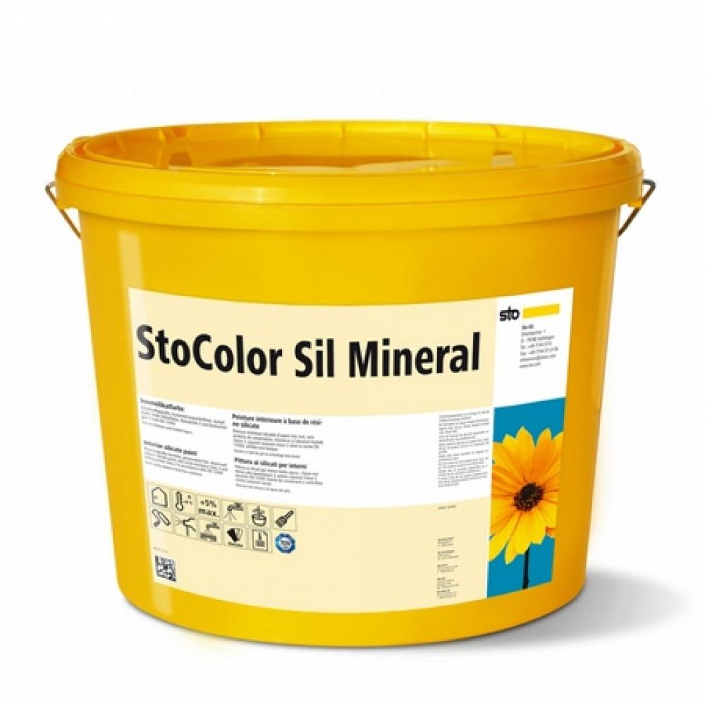 Экологически чистая силикатная краска для жилых помещений StoColor Sil Mineral супербелая 15 л