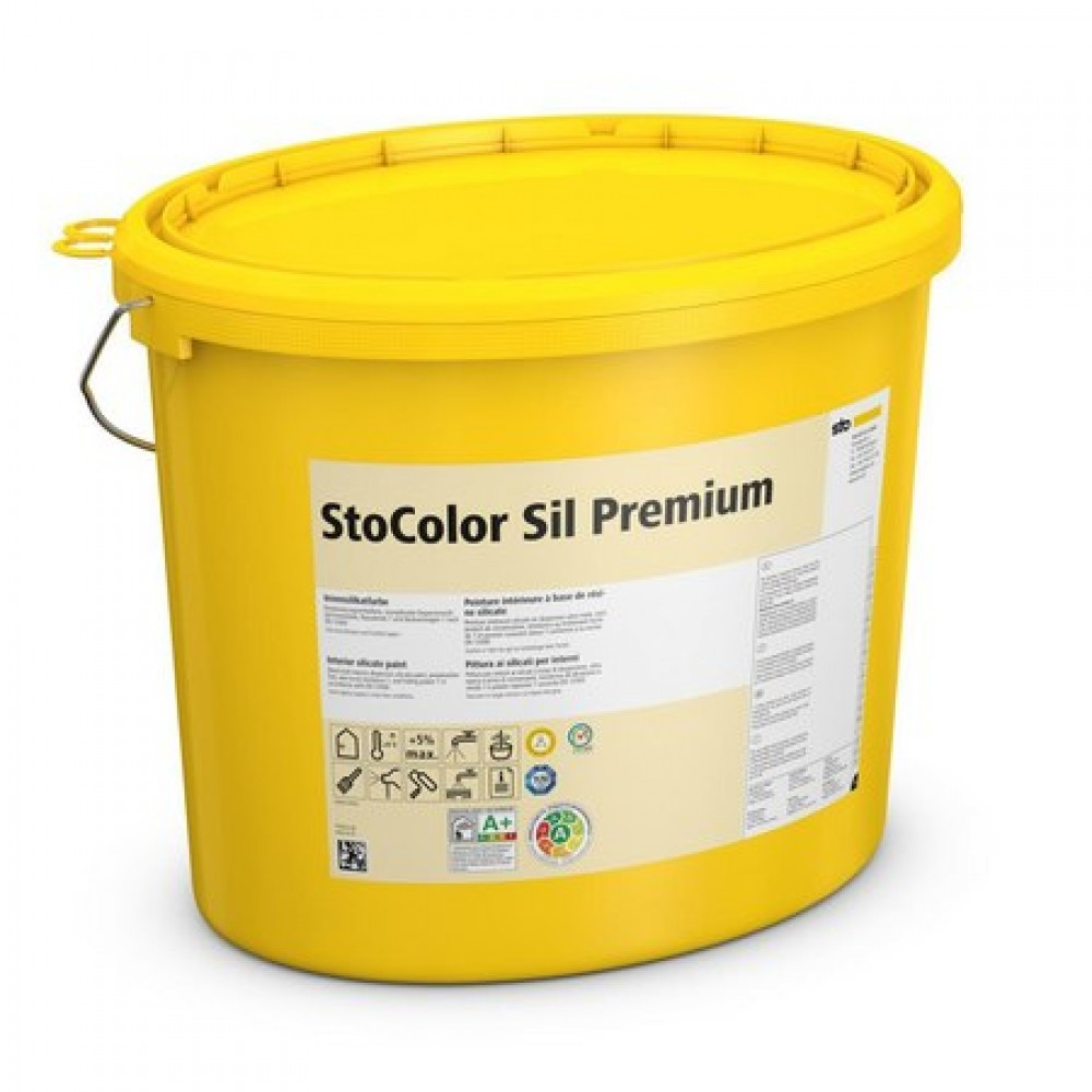 Влагостойкая устойчивая к дезинфекции краска для детских садов и больниц StoColor Sil Premium 5 л