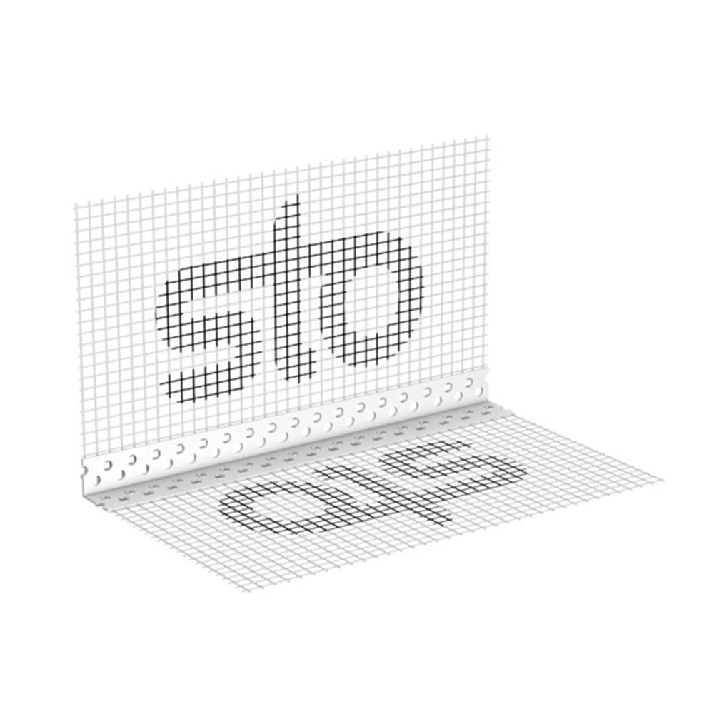 Уголок с армирующей сеткой STO Gewebewinkel 2,5м, размер ячейки стеклосетки 10х15 мм