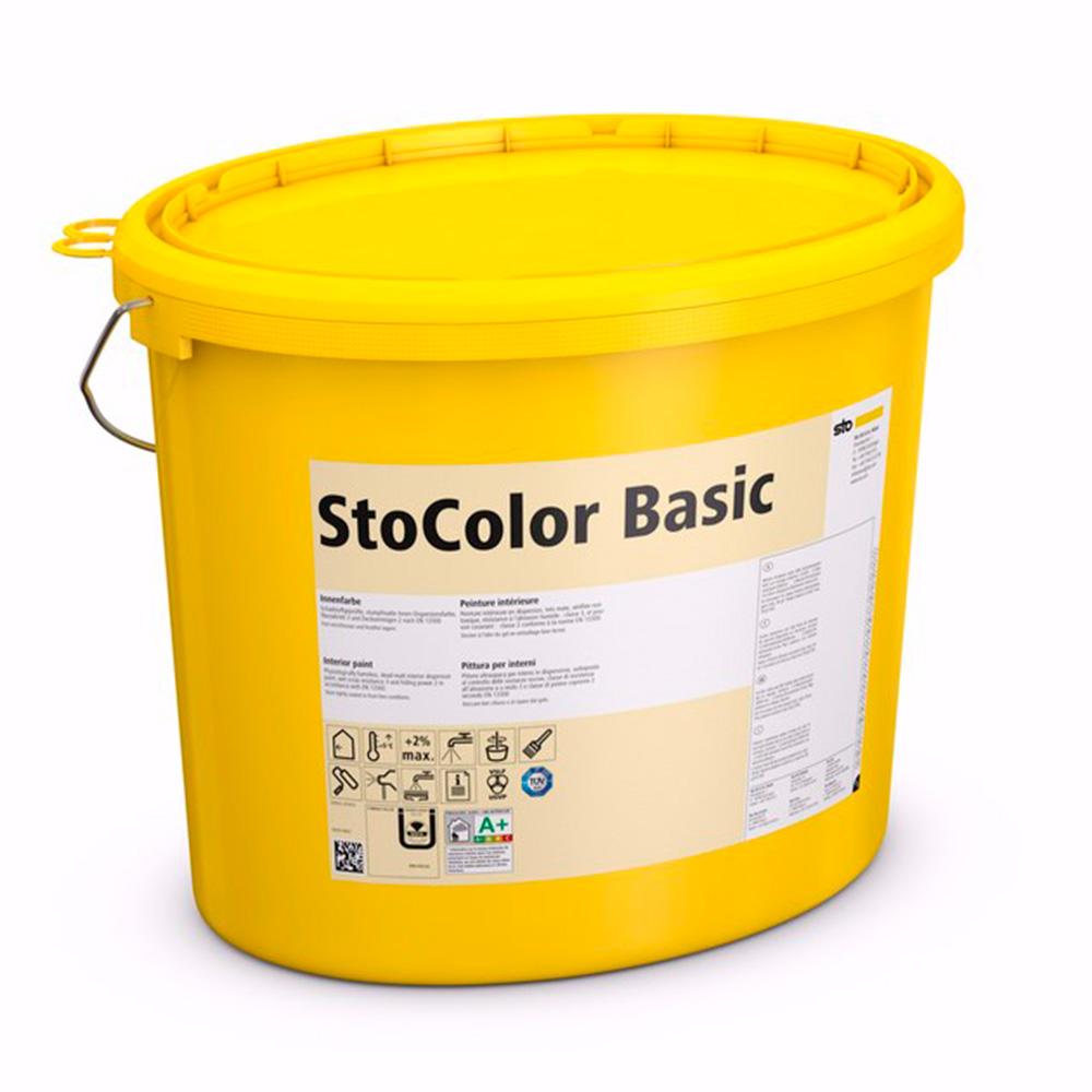 Краска воднодисперсионная без растворителей колеруемая для внутренних работ StoColor Basic 15 л