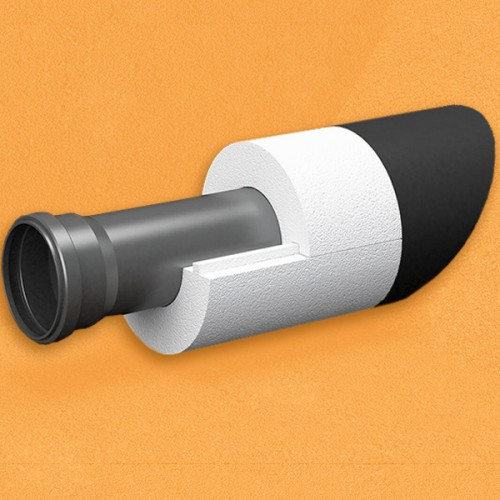 Скорлупа для труб d140 мм, толщина утеплителя на выбор 30/40/50/80/100 мм, цена за 1 м.п.