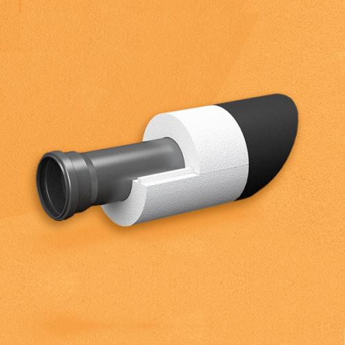 Скорлупа для труб d50 мм, толщина утеплителя на выбор 30/40/50/80/100 мм, цена за 1 м.п.