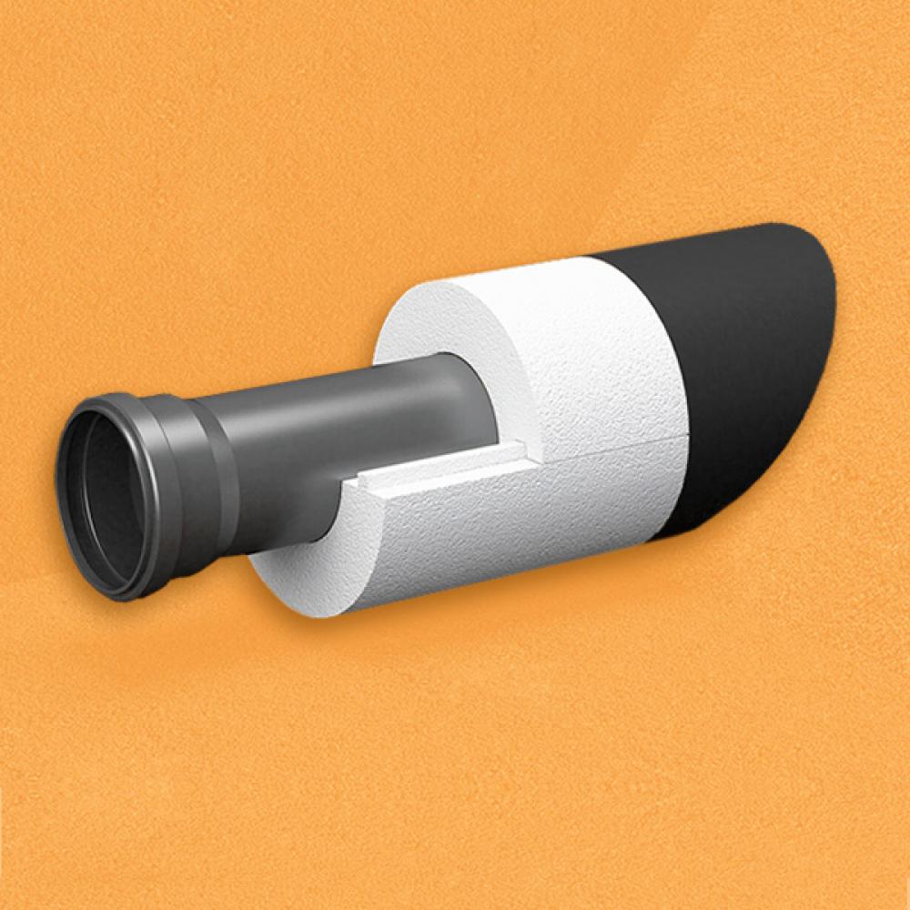 Скорлупа для труб d90 мм, толщина утеплителя на выбор 30/40/50/80/100 мм, цена за 1 м.п.