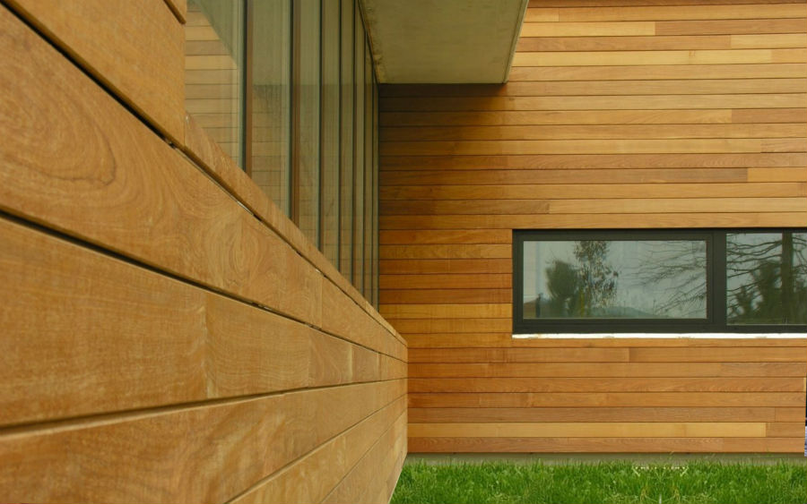 Фасадный материал - дерево