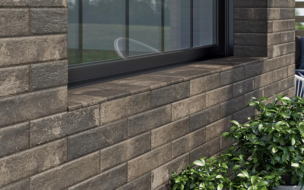 Фасадный материал - клинкерная плитка