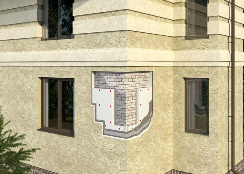 Фасадный материал - мокрый фасад